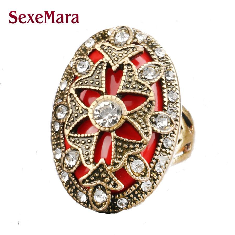 2017 New Turkey Star Women CZ Crystal Opals Rings Jewelry Vintage Wedding Peridot Rings For Women jz206