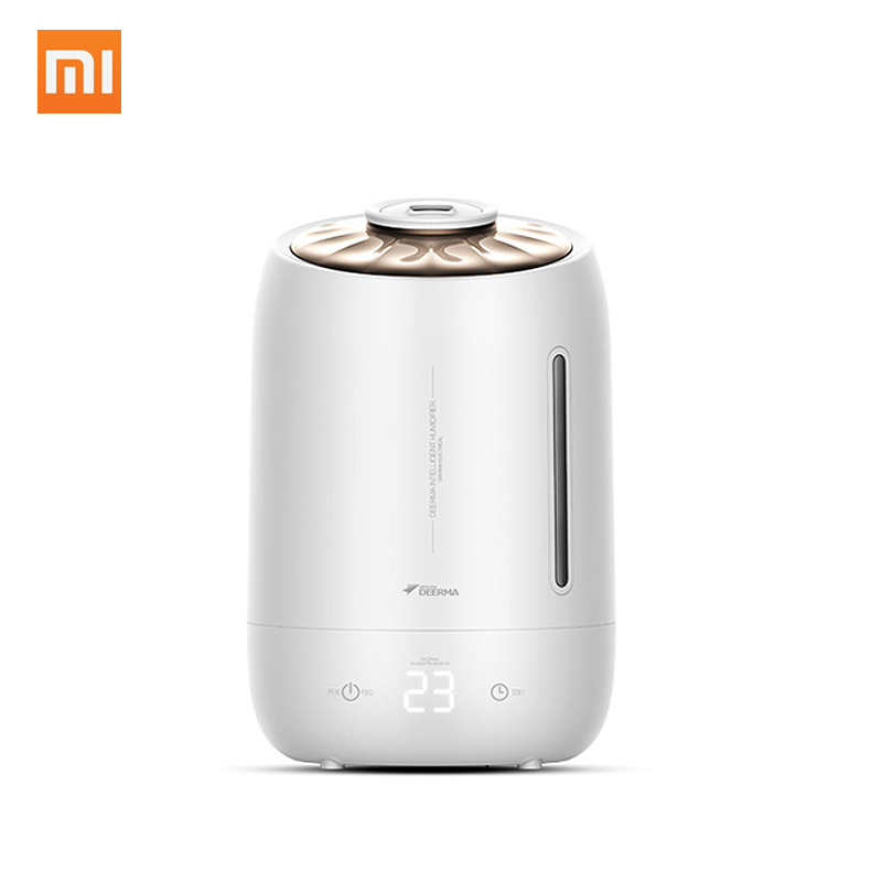 XiaoMi DEERMA Household Air Humidifier DEM F600 Air Purifying Mist Maker Timing With Intelligent Touch Screen