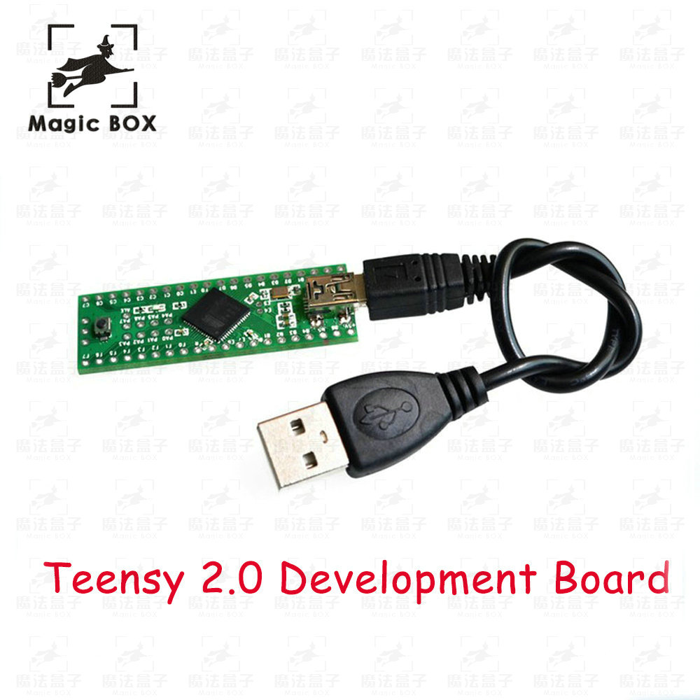Genuine PJRC Teensy++ 2.0 USB AVR develope board for ps3 Teensy (free 1pcs usb cable) diy atmega64 develop chip board set with avr downloader cable