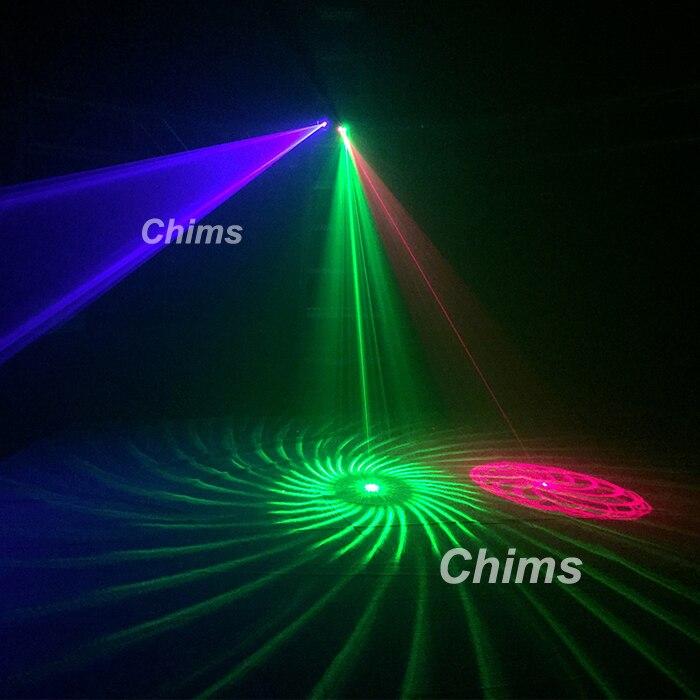 Chims DMX 4 объектива RGB Красный Зеленый Синий луч узор сеть Лазерный Свет домашний Профессиональный DJ шоу KTV Сканнер клуб сценическое освещение ... - 5
