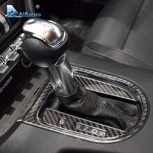 Velocità In Fibra di Carbonio Auto Del Cambio Pannello Telaio di Copertura Adesivi Per Ford Mustang 2015-2017 Accessori Per Auto Adesivi Per Auto Styling