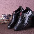2017 Genuine Leather 6 Cm Elevator Fashion Shoes Male's Popular Casual Height Increase Shoes Lace-up Black Sapato Masculino