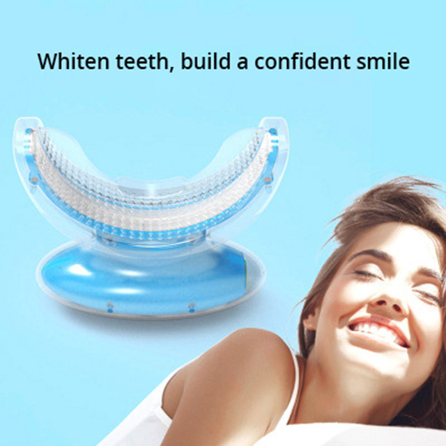 Wireless cold light tooth whitening instrument blue light teeth cleaner yellow teeth cleaner smoke stain cleaner white teeth
