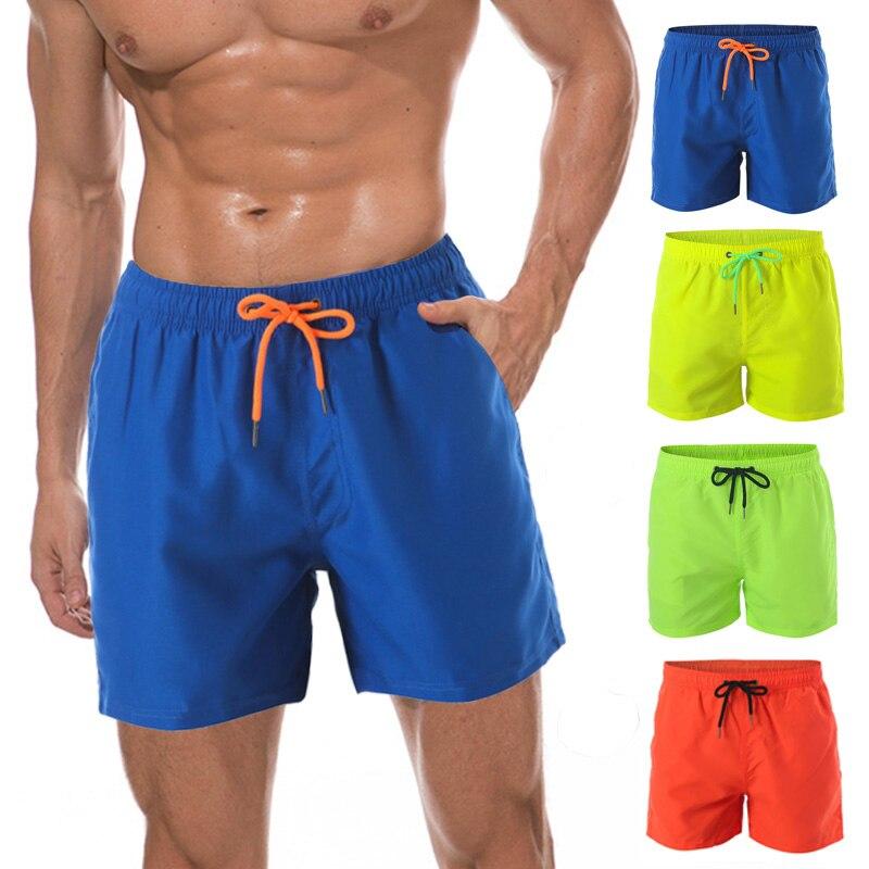 Summer Swimming Shorts For Men Swimwear Man Swimsuit Bathing Wear Surf Boxer Brie 2019 Brand Men's Beach Shorts Swim Trunks