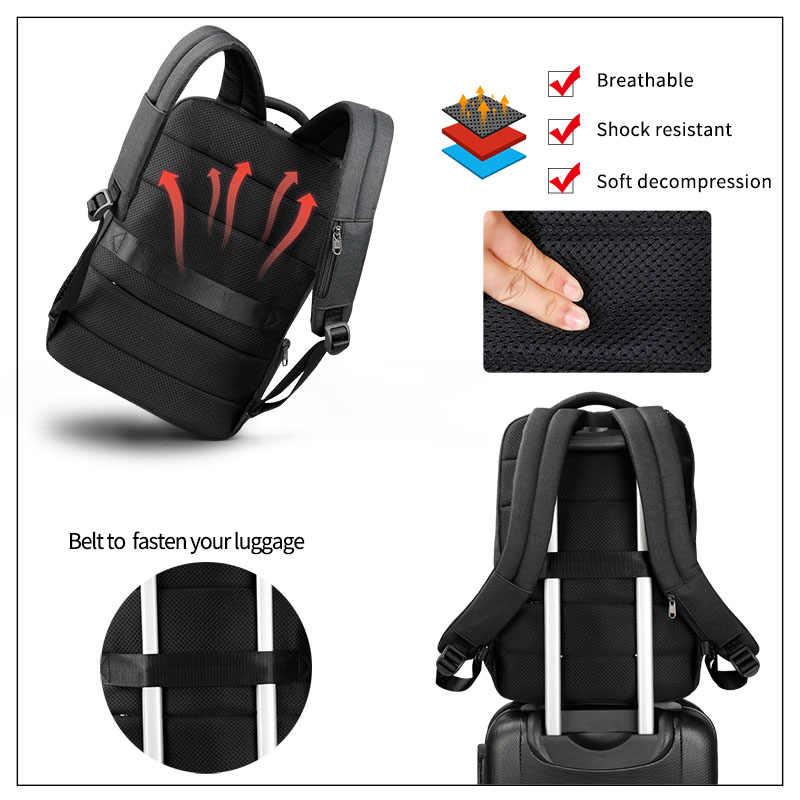 """Yeni varış erkek Mochilas 15.6 """"Laptop sırt çantaları erkekler için Tigernu Anti hırsızlık moda okul sırt çantası kadınlar katı sırt çantası çanta"""