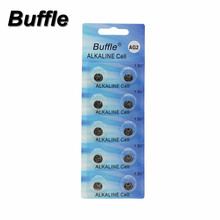 10x Buffle AG2 LR726 396A 607 S30 556 Button Cell Coin Alkaline Battery 1.5V Watches