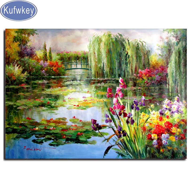 Claude Monet Colorful Water Lily Diamond Painting,mosaic Diamond Picture Full Square/round 5d Diamond Embroidery Sale,wall Arts