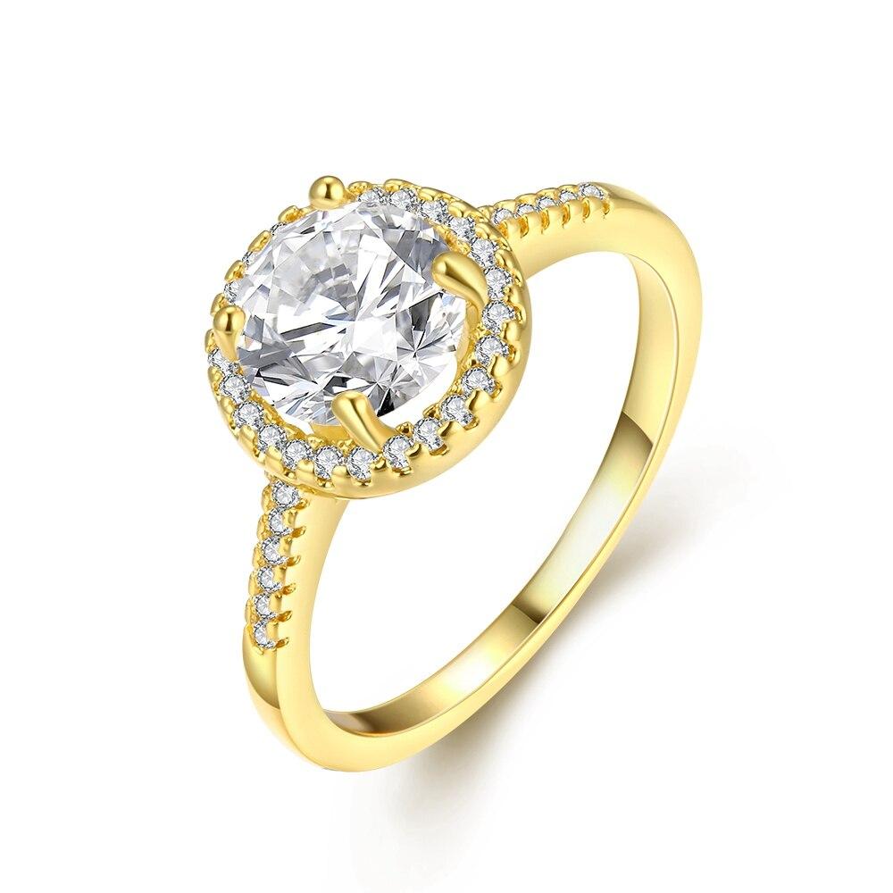 Шарм Высокое качество золото Цвет покрытие брендовые дизайнерские женские свадебные кристалл циркона кольцо украшения для женщин Новинка ...