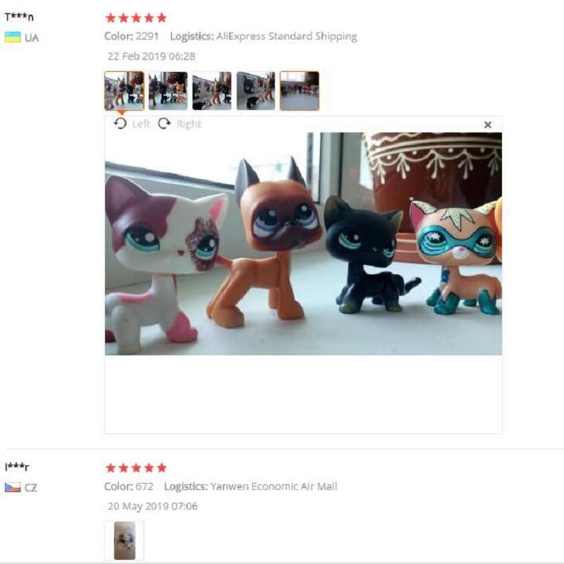 Lps perro tienda de mascotas juguete Lps antigua colección juguetes para gatos Pelo Corto figura de pie de acción Cosplay juguetes niños regalo