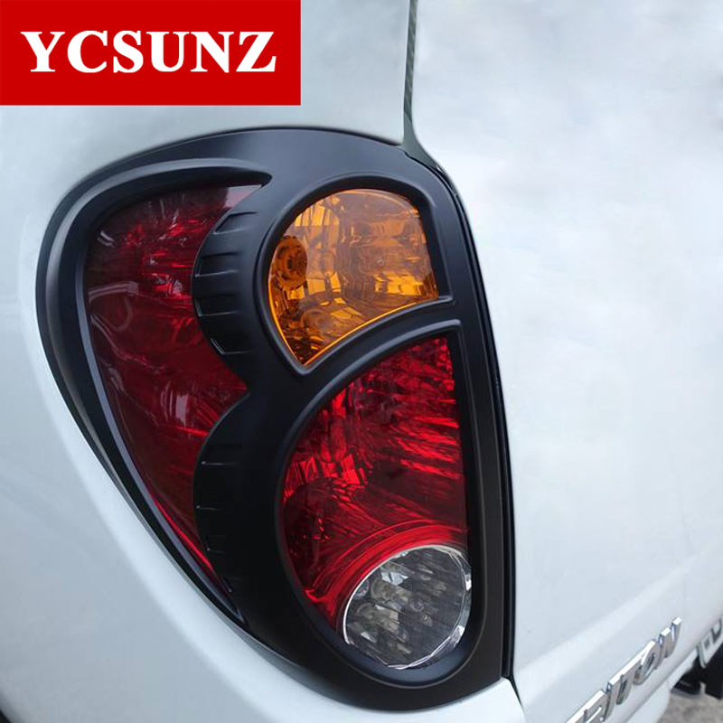 Black Tail Lights Cover For Mitsubishi L200 Triton 2006-2014 Rear Light Decorative Cover For Mitsubishi L200 Pickup Ycsunz