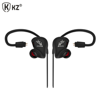 Original KZ ZS3 Hifi Earphone With Without Microphone Metal Heavy Bass Sound Music Earphone Phone Calls