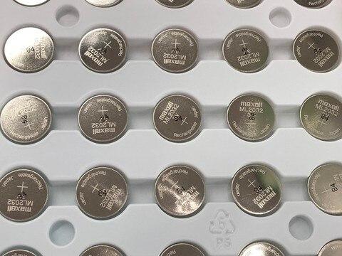 Bateria de Lítio Recarregável da Pilha da Tecla Lote Original Maxell Ml2032 3v ml 2032 Baterias Botão 20 Pçs –