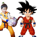 Japan Anime Kids Dragon Ball Z Cosplay Costume Son Goku Monkey King Cosplay Clothes Halloween Party Wear