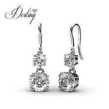 Destiny Jewellry clip earring embellished with round crystal from Swarovski DE0149(China)