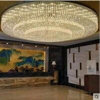 Large hotel engineering crystal ceiling lamp custom round living room hotel hall hall lighting sales department sand table lamp