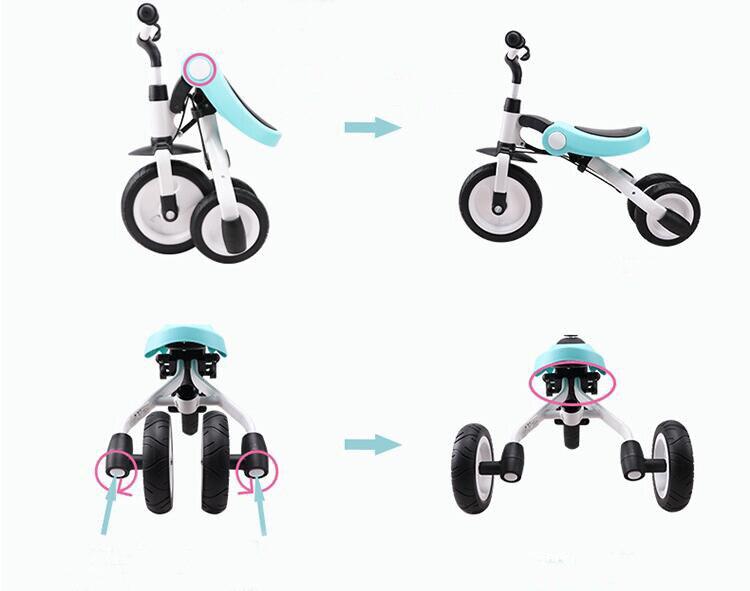 Monter sur des jouets bébé Tricycle enfants pliant vélo enfants Scooter - 5
