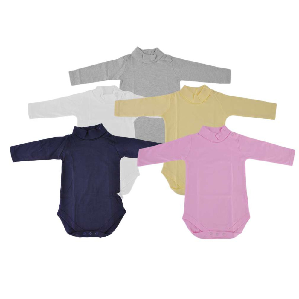 Hot! Newborn Baby Boys Girls Clothes Jumpsuit Long Sleeve Infant Turtleneck Turn-Down Collar Triangular Romper New Sale puseky 2017 infant romper baby boys girls jumpsuit newborn bebe clothing hooded toddler baby clothes cute panda romper costumes