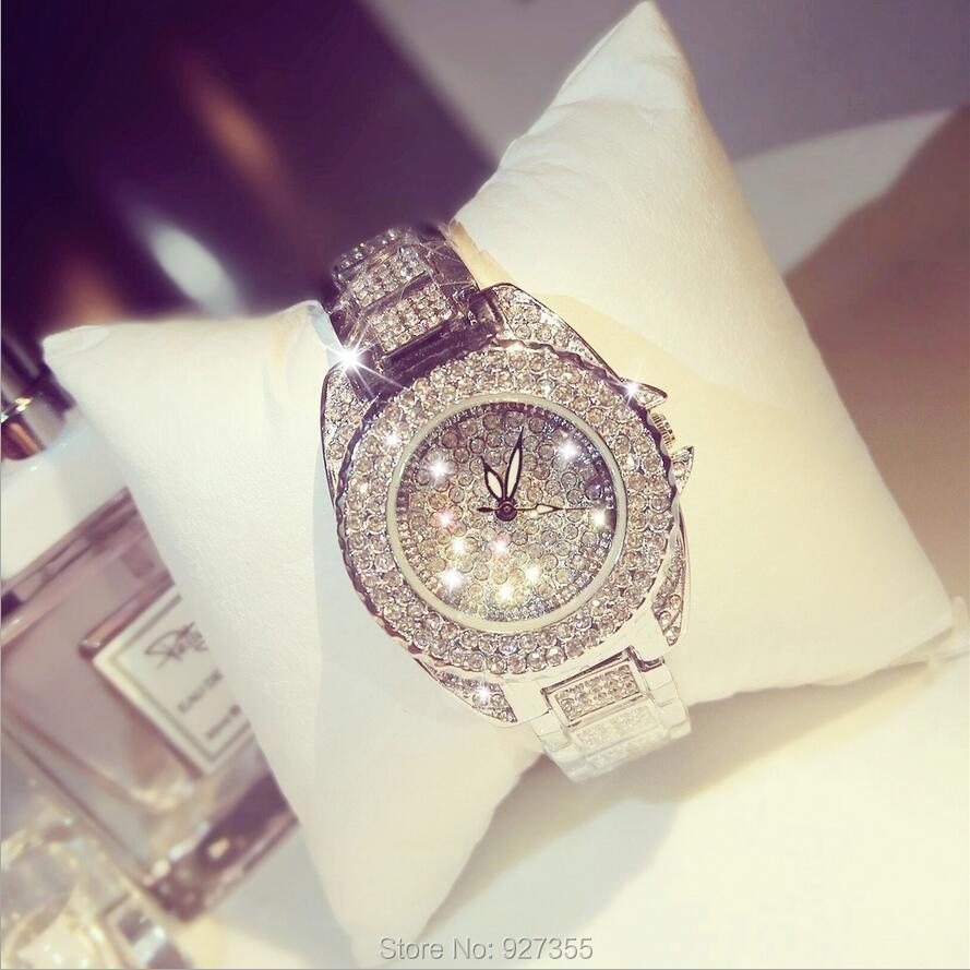 2018 nouveauté montres femmes! Cristal autrichien strass montres de luxe femmes robe montre! Mode Diamant Montres