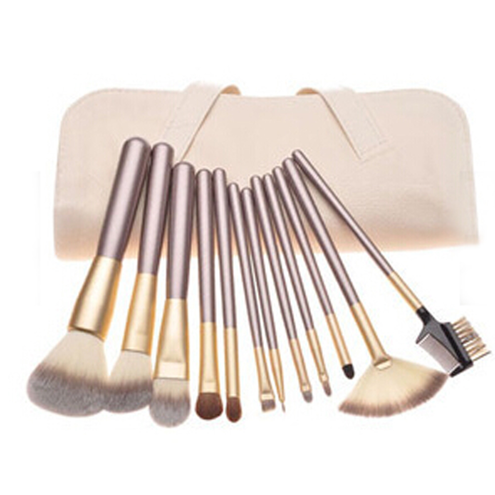 12 pcs Soft Brush Set Synthetic Professional Cosmetics Makeup Foundation Powder Blush Eyeliner Brushes Make Up Tools 12 18 24pcs make up brush set soft synthetic professional cosmetic makeup foundation powder blush eyeliner brushes kit
