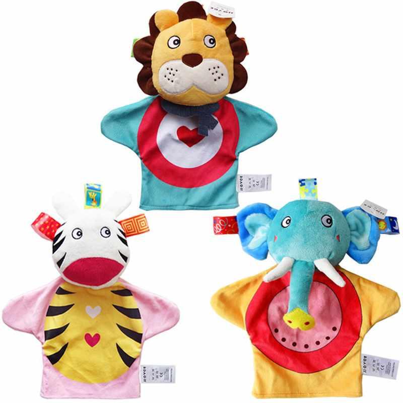 Baby Söt Animal Plush Toy Comfort Handduk Med Sound Paper And Teether Dog Mjuk Appease Fylld Leksak Playmate Calm Doll