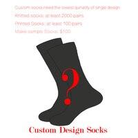 Брендовые качественные индивидуальные Дизайн Happy Socks Для мужчин/Для женщин носки контакт с клиентом Услуги перед заказом