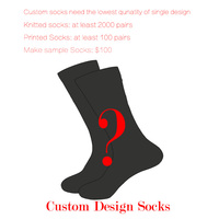 Brand Quality Customized Design Happy Socks Men/Women Socks Contact Customer Service Before Order