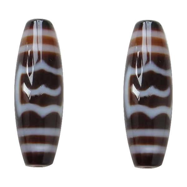 Grade AAA Agate Natural Tibetan Dzi Beads Oval Dapeng Bird 13x38mm Hole:Approx 2mm Sold By Lot Free Shipping