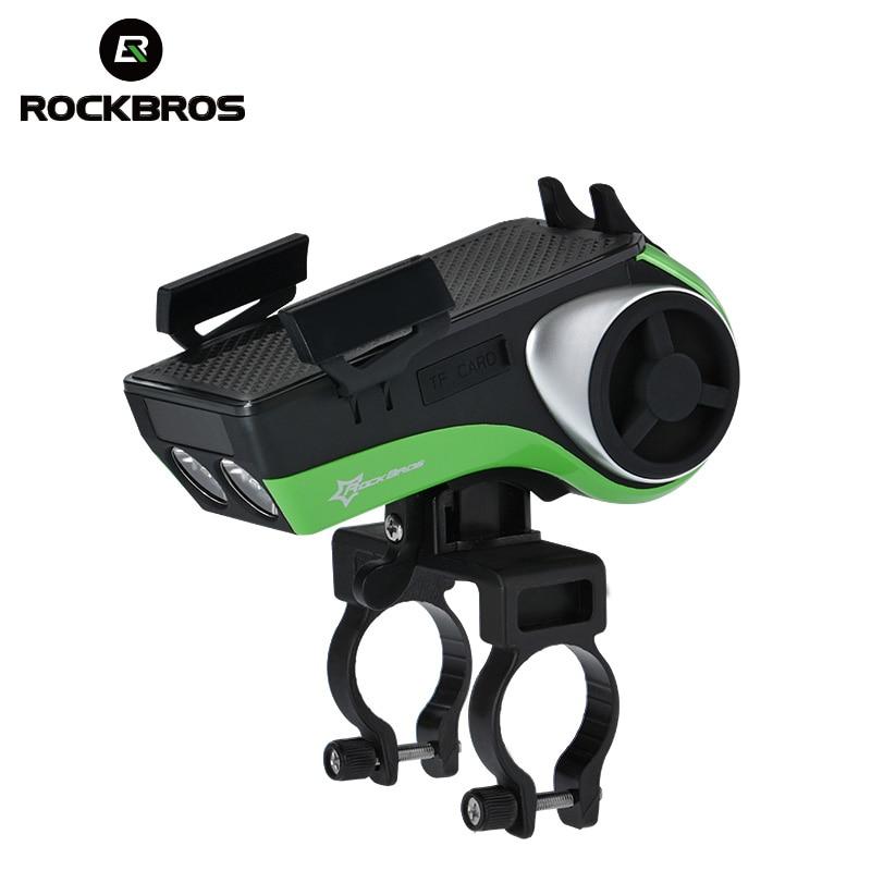 ROCKBROS étanche 5 en 1 vélo ordinateur support pour téléphone Bluetooth Audio lecteur MP3 haut-parleur 4400 mAh batterie externe cloche vélo lumière