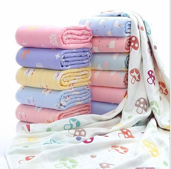 Newborn Baby Cotton Blanket Infant Thick 6 layer Aden Anais Muslin Bebe Swaddle Bedding Baby Breathable Blankets Kids Bath Towel fox muslin quilt four layer bamboo baby muslin blanket muslin tree swaddle better than aden anais baby blanket infant wrap