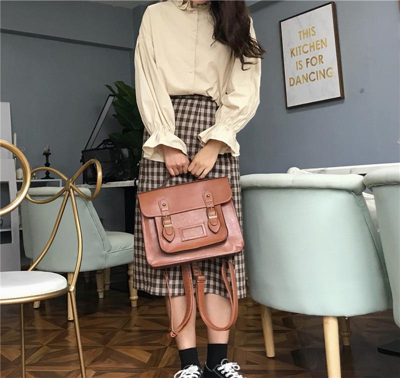 Korean vintage Women Backpacks preppy style student backpack multifunctional female shoulder bag women school bag ladies Totes