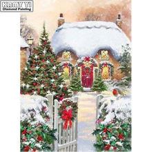 5d diy Алмазная картина вышивка крестиком рождественский дом