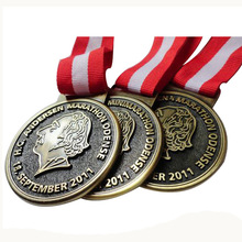 custom Zinc Alloy 3D medals cheap Plated Antique Tin low price round Shape high quality Medal