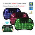 20 unids Retroiluminada i8 Air Mouse Mini Wireless Keyboard Touchpad Control Remoto para Z4 T96 pro Android TV BOX Backlight PC PS3 Gamepad