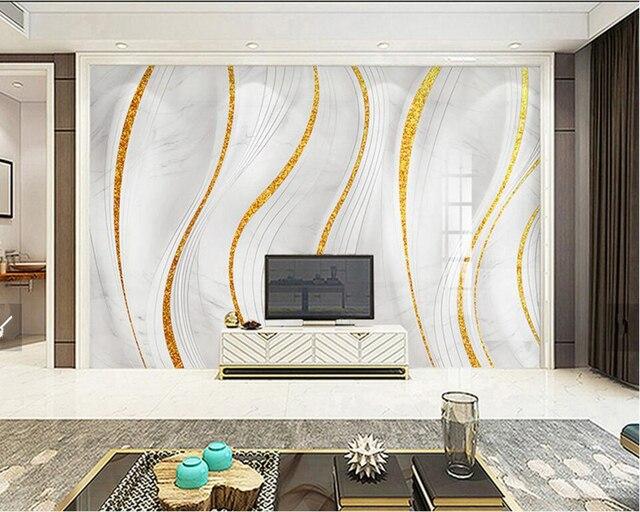 Custom Photo Wallpaper Gold Marble Modern Living Room Tv Sofa Kitchen Wall Paper Bedroom Murals Papel De Parede