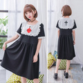 Soft Sister LOLITA Maid Cross Heart Embroidery Maid Dress For Teens Girls Darkly Lolita Dress Adorable Girl Loose Lolita Dress