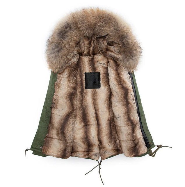 Warming Beaver faux rabbit fur coats short style winter men parka ...