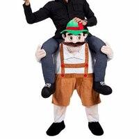Unisex Passeio Em Equitação Ombro Adulto Fantasia de Urso/Leprechaun/Sapo/Coelhinho Da Páscoa Do Traje Da Mascote do Dinossauro Do Partido Cosplay Vestido engraçado