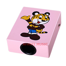 Afanti Music Birch Wood / Pink Cajon Drum (KHG-178)