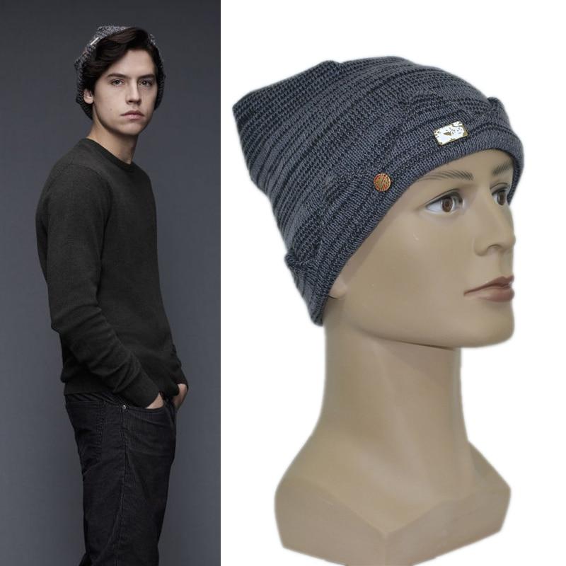 34d06438356 Riverdale Jughead Jones Cosplay Beanie Cap Knitted Hat TV Series Cosplay  Props