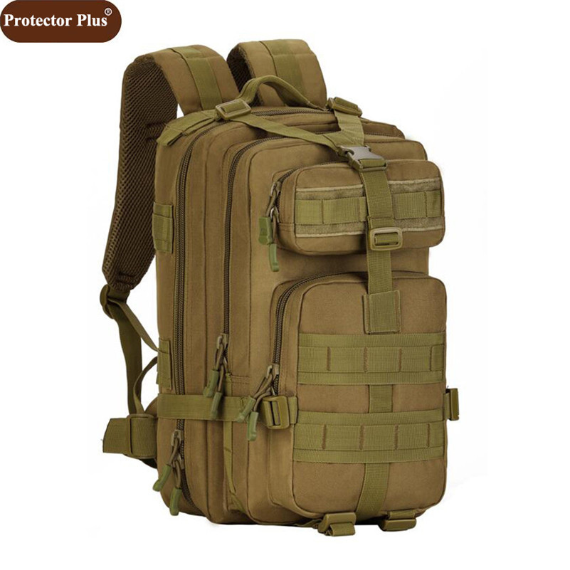 Protector Plus High Quality Waterproof Nylon Backpacks Men Camouflage Bags Pack Large Military Backpack 2019 Free