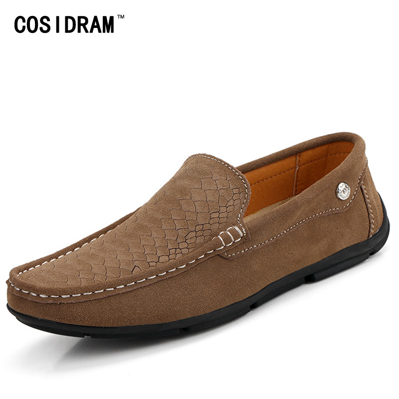 New 2017 Spring Genuine Leather Men Loafers For Men Shoes Casual Soft Bottom Driving Shoes Male Flats Moccasins Gommino RMC-317 2017 new fashion summer spring men driving shoes loafers real leather boat shoes breathable male casual flats