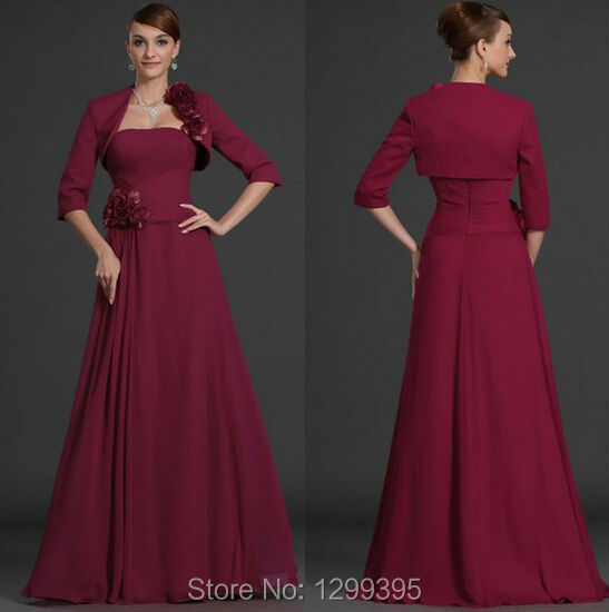 Plus Size Burgundy Navy Blue Mother of The Bride Dresses ...