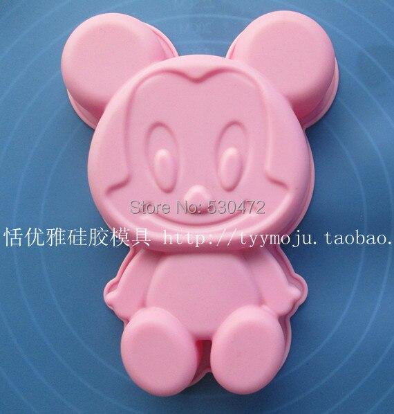 1 шт., форма для выпечки из силикагеля Микки