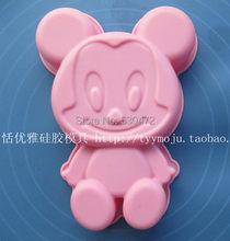 Moule à gâteau en gel de silice Mickey, résistant à la chaleur, 1 pièces