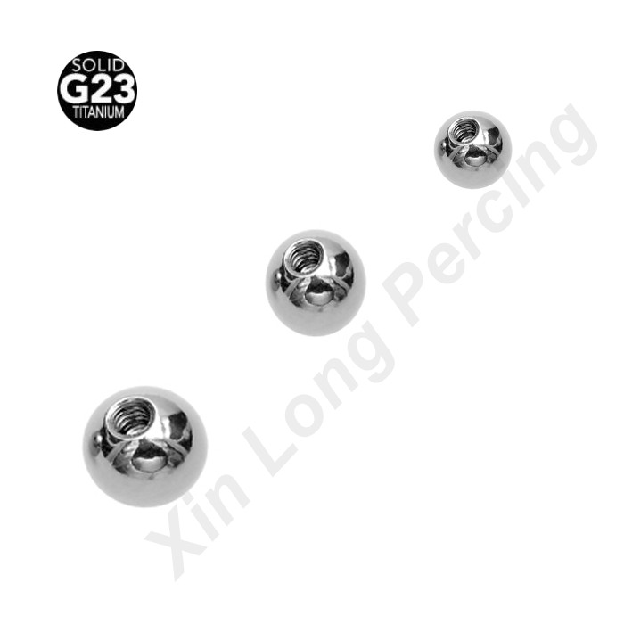 High Polished G23 Titanium Balls Replacement Nose Barbell