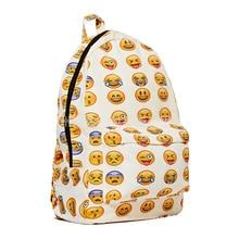 2016 новая мода холст печати рюкзак женщины emoji рюкзак для школы женщина смайлики сумки для плеча дамы женские Рюкзаки