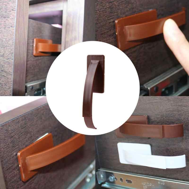 Детская безопасная защита Скрытая защелка замок для ящика дверного шкафа Дети Детская безопасность пластиковый Многофункциональный замок