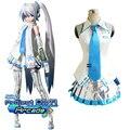 Free Shipping Vocaloid Project Diva Snow Miku Cosplay Uniform Dress Women Girl's Halloween Costumes Custom-made