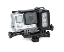 Go pro Flash LED Night Light Mount Kit for Gopro Hero 4 session, Xiao mi Yi,SJCAM SJ4000 SJ5000 sj6000 WIFI action cameras GP296