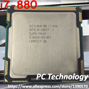 Origina Intel Core i7-880 CPU 3.06GHz 8M Quad-Core LGA1156 45nm 95W i7 880 Processor Desktop CPU free shipping